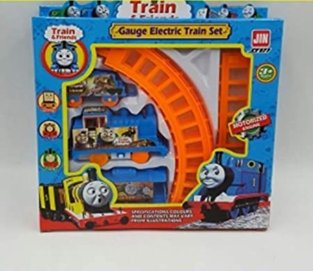 Brunte Kids Toy Train Freinds Train Playset Toy Battery Operated Train Set with Light and Sound