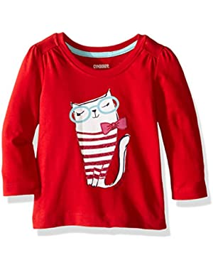 Toddler Baby Girls' Long Sleeve Graphic Tee