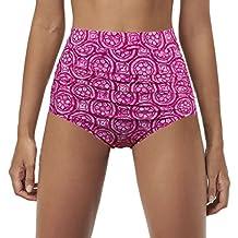 Qiaoer Womens Vintage Push up Halter High Waisted Bikini Swimsuit Set