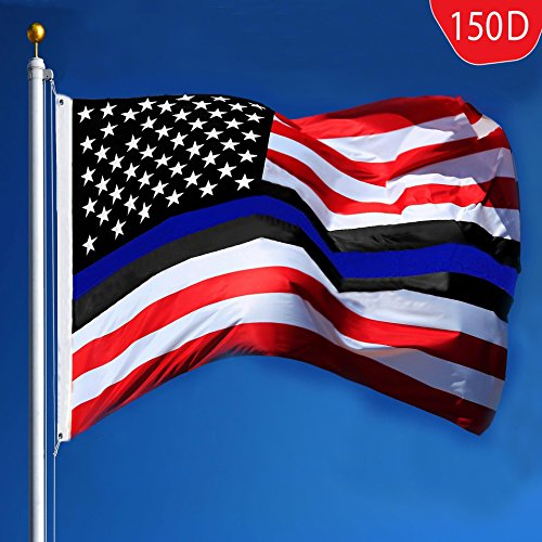 G128 Police Blue Lives Matter Flag 150D Quality Polyester 3x