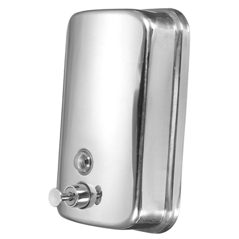 dispenser sapone a muro acciaio, Emvanv acciaio INOX dispenser contenitore bagno cucina a muro lozione pompa sapone shampoo disinfectant, As Picture Show, 500 ml