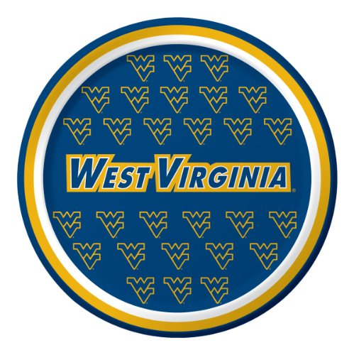 West Virginia Mountaineers Dessert Paper Plates, 8-Count ()