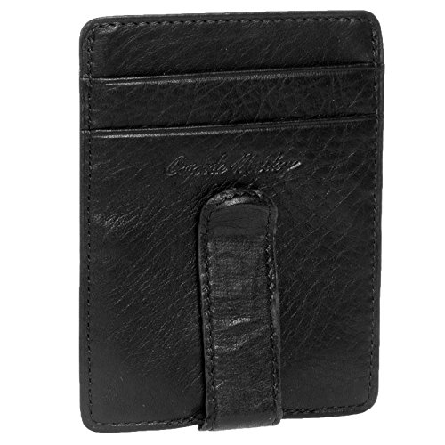 Cashmere Men's ID Front Pocket Clip Wallet Color: Black ()