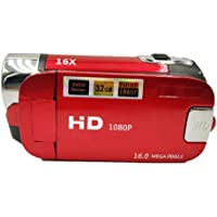 Eachbid Video Camcorder HD 1080P Handheld Digital Camera 16X Digital Zoom 16MP Video Recorder with Battery,USB Cable and Charger (Red)