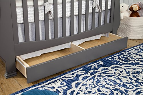 Million Dollar Baby Classic Ashbury 4-in-1 Convertible Crib with Toddler Bed Conversion Kit, Manor Grey by Million Dollar Baby Classic (Image #3)