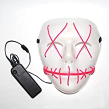 Purge Halloween Led Light Up Costumes Glow Stick Party City Mask for Parties Festival Costume by Magical Imaginary