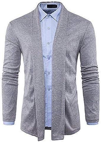 Long Sleeve Knit Pullover Minimalist Fashion Hombres Style Sin Simple Estilo Tirante De La Camisa SAU Ying LUN: Amazon.es: Ropa y accesorios