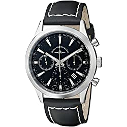 Zeno Men's 6662-7753-G1 Vintage Line Stainless Steel Automatic Watch with Black Leather Band