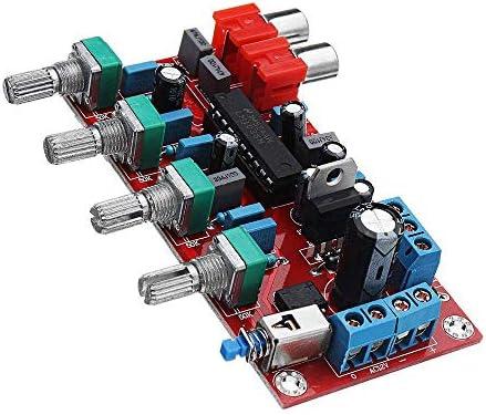 ZT-TTHG LM1036豪華なHIFIアンププリアンプのボリュームコントロールトーンボードDC 15V AC 12Vまたは15V 1000UFウッドシェービングツール
