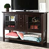 WE Furniture 52'' Console Table Wood TV Stand Console, Espresso