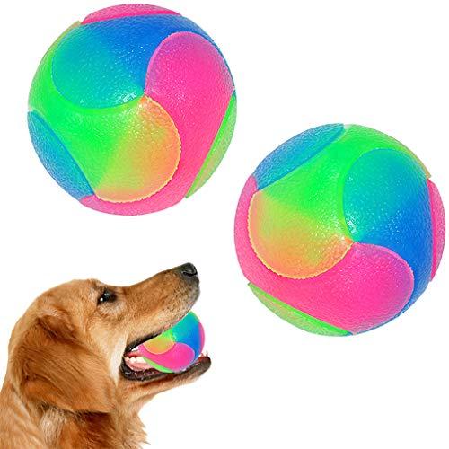 FineInno 2 pcs Groß Blinkender Ball Hundespielzeug Ball Hundeball Leuchtend Glow Ball Hundespielball Ball Spielzeug für…
