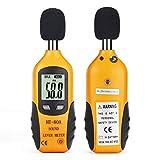 Decibel Meter, RISEPRO Digital Sound Level Meter 30 – 130 dB Audio Noise Measure Device Dual Ranges HT-80A