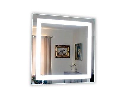 Amazon Com Wall Mounted Lighted Vanity Mirror Led Mam83636