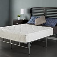 Sleep Master 8 Coil Mattress and Easy to Assemble Smart Platform Metal Bed Frame, Twin