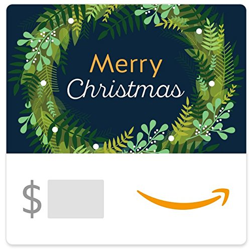 Christmas Gift Cards - Amazon eGift Card - Christmas Wreath