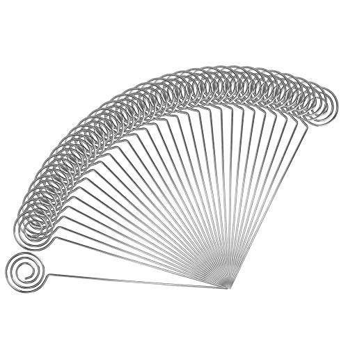 Ring Loop Round Shape Craft Wire Clip Table Card Holders Note Photo Picture Memo Holder for Party Birthday Office DIY Cake Topper Accessories Decoration,30 Pack Silver (Wire Cake)