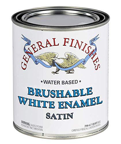 General Finishes Brushable White Enamel, 1 Gallon, Satin