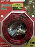 Trolley Run Large Big Dog Cable Overhead Wire Super Duty 100 Feet--Dogs up to 100lbs …