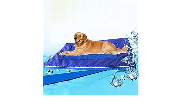 Jdon-pet, animal doméstico de la cama de la almohadilla del perro del perro del verano refresca abajo el cojín desmontable de la estera del perro del cojín, ...