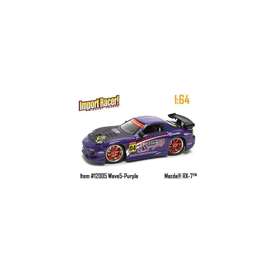 Jada Dub City Import Racer Purple Mazda RX 7 164 Scale Die Cast Car