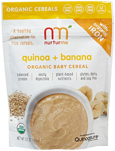 NurturMe Baby Cereal-Quinoa and Banana-3.7 Ounces-6 Pack