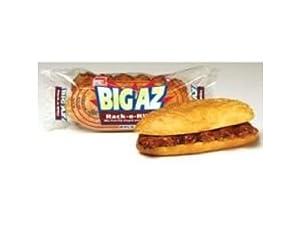 Advance Pierre Big Az Rack O Ribs Barbecue Pork Sandwich, 8.6 Ounce -- 8 per case.