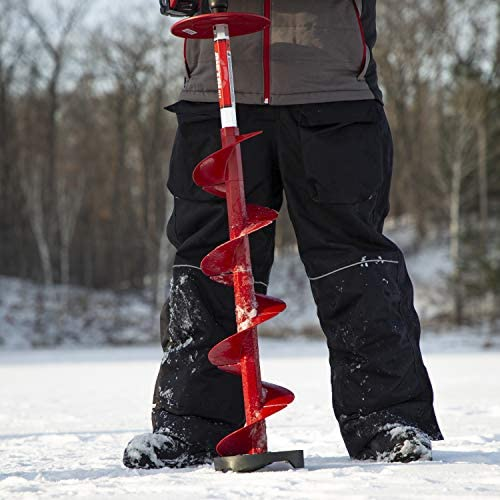 Eskimo 35400 Pistol Bit 6 Drill Adaptive Ice Auger Weighs Only 3.2 Pounds Redrills Old Holes Easily Extremely Fast Cutting