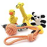 Kvvdi 6- Pack Great Durable Puppy Ropes Teething Chew Toys, Promotes Healthy Chewing, Best Toys for Small & Medium, Pet Toys, Tough Dog Toys, Fun Puppy Toys