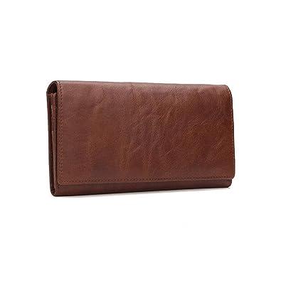 Black wallet credit card banknote holder handstitchen cowhide leather pouch