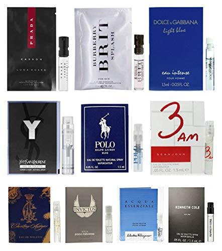 - 10 Mens Cologne Sample Vials All High End