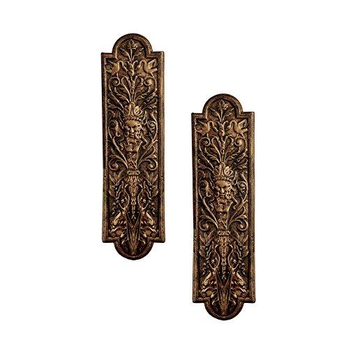 Design Toscano Green Man Door Plates (Set of 2)