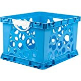 Indoor Large File Crate Storage with Handles, in Blue Color ( 3 PACK )