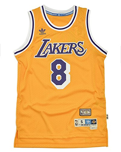 adidas Kobe Bryant Los Angeles Lakers Gold Throwback Swingman Jersey Large