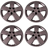 Set of 4 Silver 16 Inch Aftermarket Replacement Hubcaps with Bolt On Retention System - Part Number: IWC459/16S