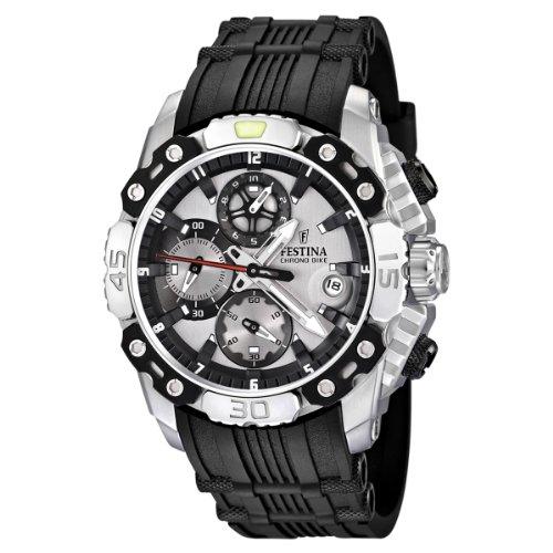 Festina Men's F16543/1 Black Rubber Quartz Watch with Grey Dial
