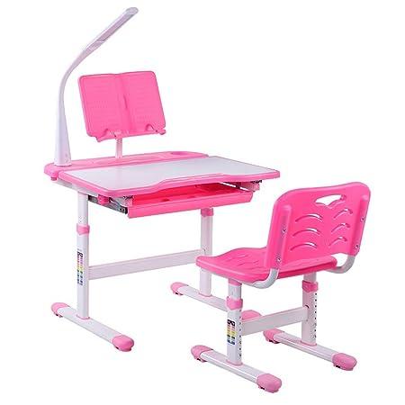 Juego de sillas de escritorio ajustables para niños, mesa de ...