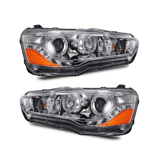 SPPC Projector Headlights Chrome (CCFL Halo) For Mitsubishi Lancer - (Pair)