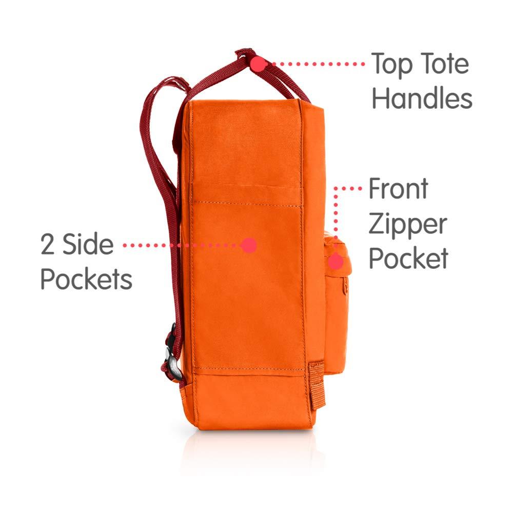 Fjallraven - Kanken Classic Backpack for Everyday, Burnt Orange/Deep Red by Fjallraven (Image #4)