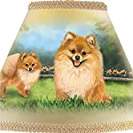 Pomeranian Table Lamp with Linda Picken Art and Sculpted Base by The Bradford Exchange 5