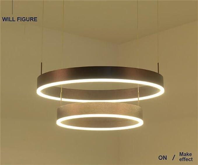 Plafoniere Grandi Dimensioni : Due lampadari a bracci circolari moderni semplice anello led