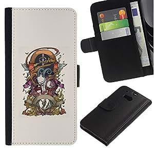 Stuss Case / Funda Carcasa PU de Cuero - Cabra Goth - HTC One M8