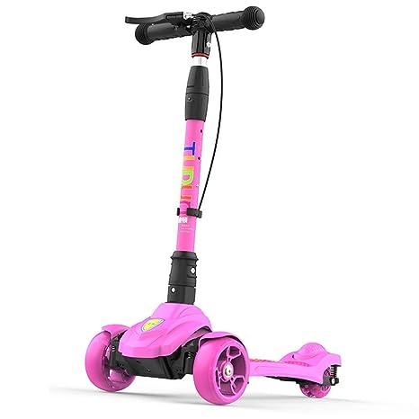 MYHXC Scooter for niños, Patinete de 3 Ruedas con función ...
