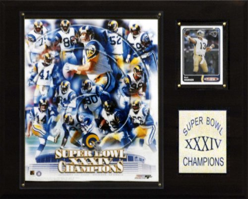 - NFL Rams Super Bowl XXXIV Champions Plaque