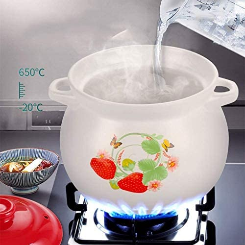 SBWFH Casserole - Gaz ménagers, Céramique, haute température, Faïence, Casserole (Size : 4.6L)