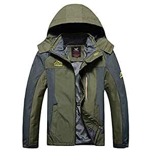 Modern Fantasy Mens RMK SOAP Bar Breathable Waterproof Outdoor Sport Jacket Size US Army Green XS