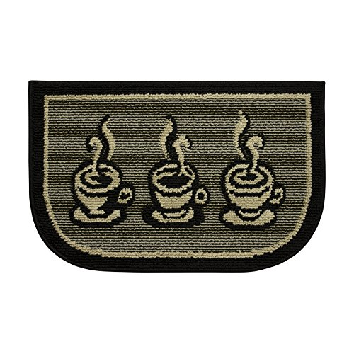 Structures Textured Non-Slip 18 x 28 in. Wedge Kitchen Rug, 3 Cups a Day by Structures
