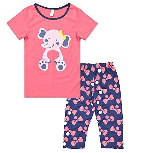 Summer Pajamas for Girls Toddler Sleepwear 2 Piece Playwear Outfits Elephant Costume Party Pjs Size 5 Kids