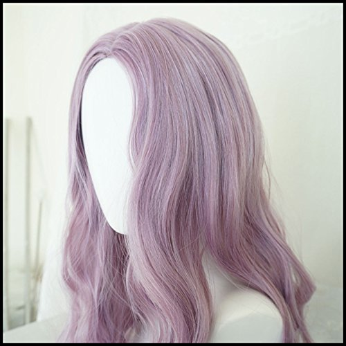 Generic Water Dance girls dream purple wig simulation scalp fringe of long curly hair and long hair fluffy big wave sets by Generic (Image #1)