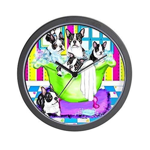 CafePress Boston Terrier TubFull Wall Clock Unique Decorative 10