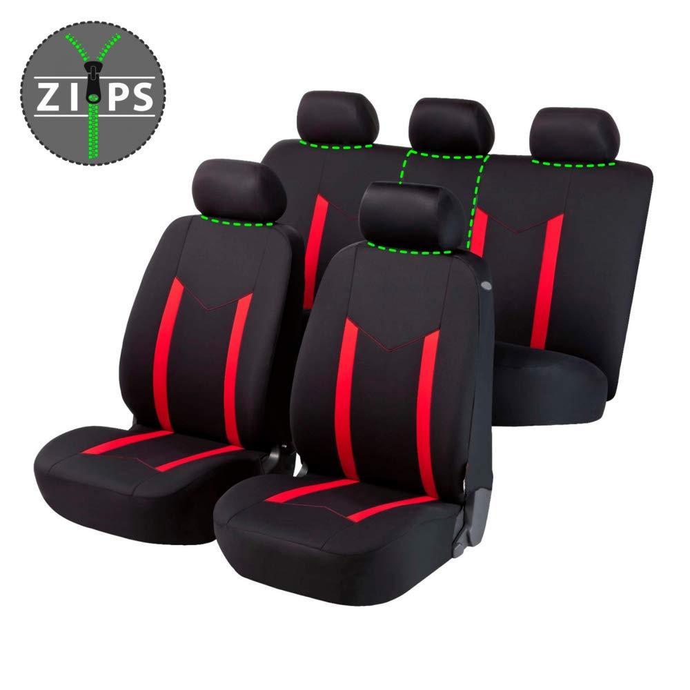 Coprisedili Anteriori SX4 Versione EY:GY 2006-2014 con Fori per i poggiatesta e bracciolo Laterale compatibili con sedili con airbag
